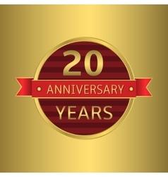 Anniversary 20 years vector image