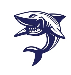 blue shark icon vector image vector image