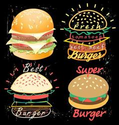 Bright cover for fast food menu vector image
