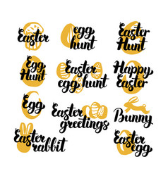 easter holiday hand drawn quotes vector image vector image