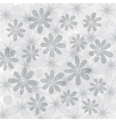 Floral background flowers pattern vector image vector image