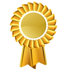 gold award seal rosette vector image