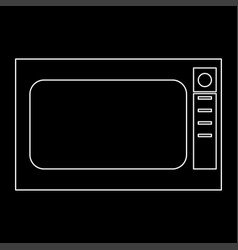 microwave oven the white path icon vector image vector image