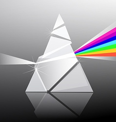 Prism Triangle Transparent Glass Shape with vector image vector image