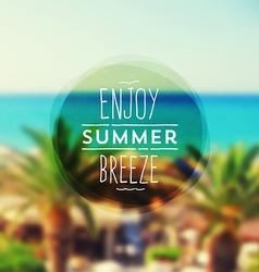 Summer vacation type design vector