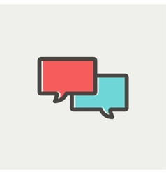 Two Speech bubbles thin line icon vector image vector image