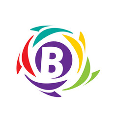 initial b icon vector image vector image