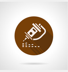 laser engraving brown round icon vector image vector image