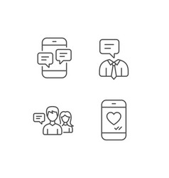 message social media and communication icons vector image