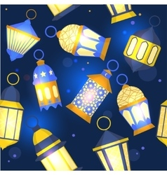 Ramadan Lanterns Background Pattern vector image