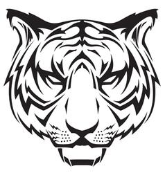Tattoo tigers head vector