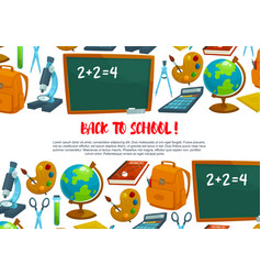 welcome back to school banner design vector image