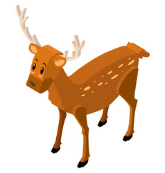 3d design for cute deer vector image