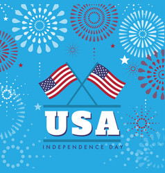 4th july united states independence day background vector image