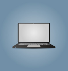 a laptop screen display with a popular design can vector image