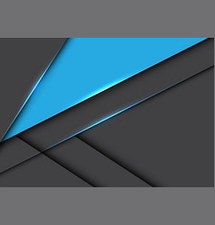 abstract blue triangle on grey metallic overlap vector image