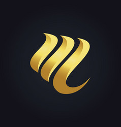 Abstract gold business logo vector