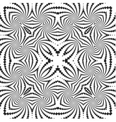Abstract monochrome fractal pattern background vector