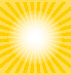 Abstract sun rays wavy yellow and white vector