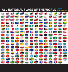 all official national flags world vector image