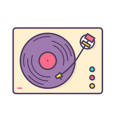 analog music player recorder or turntable playing vector image