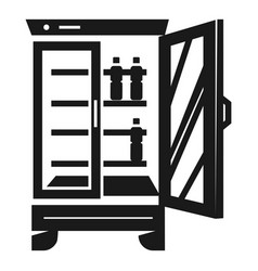 Beverage fridge icon simple style vector