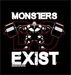 bodybuilding-monster-fitness vector image