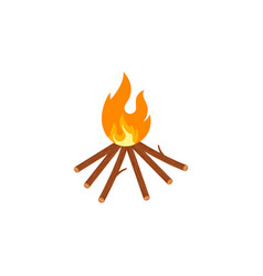 bonfire icon design vector image