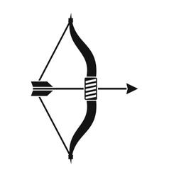 Bow and arrow icon simple style vector image