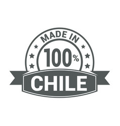 chile stamp design vector image