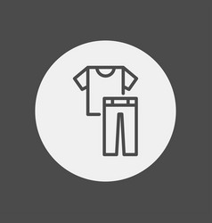 clothes icon sign symbol vector image