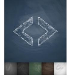 code icon Hand drawn vector image