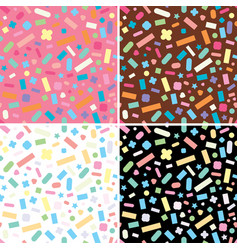 collection seamless repeating sprinkles vector image