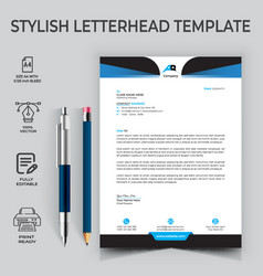 Corporate business letter head templates for you vector