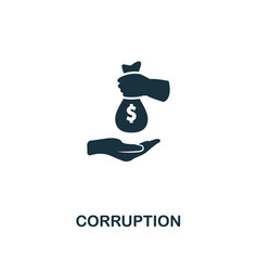 corruption icon premium style design from vector image