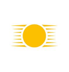 creative sun or summer logo design template vector image
