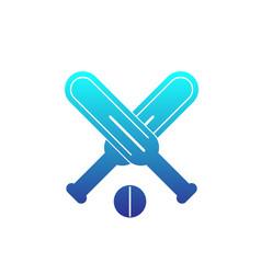 Cricket icon on white vector