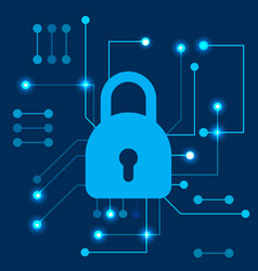 Cyber security data protection concept vector