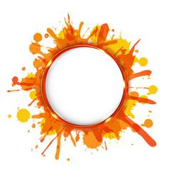 dialog balloons with orange blobs vector image