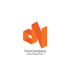 dn letters logo d and n letters design 3d initial vector image