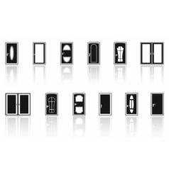 door set with mirror vector image