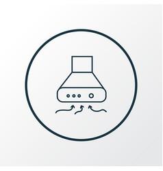 exhaust hood icon line symbol premium quality vector image