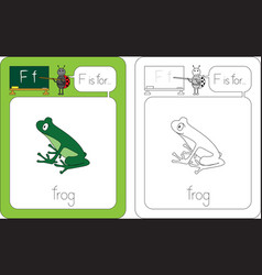 flashcard letter f vector image