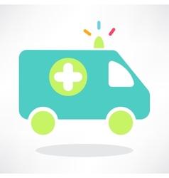 Flat icon of ambulance vector image