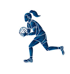Gaelic football female player vector
