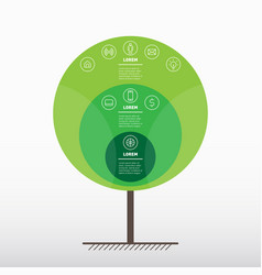 go green concept organic eco poster infographics vector image