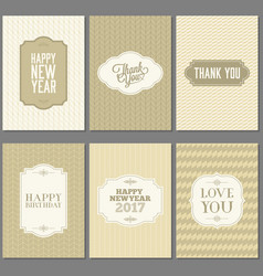 greeting card and invitation template vector image