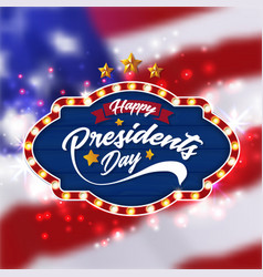 happy presidents day banner background vector image