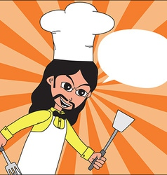 Hipster chef design vector