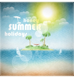 Honey summer holidays vector